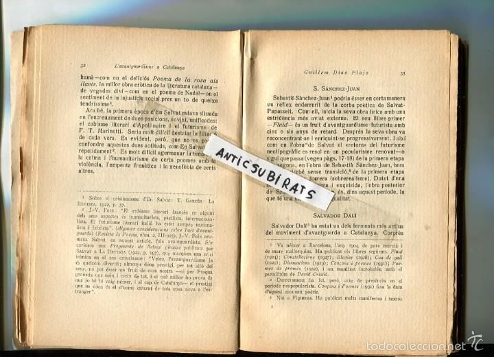 LLIBRE 1932 L' AVANTGUARDISME A CATALUNYA GUILLEM DIAZ PLAJA SALVADOR DALI JUNOY SALVAT-PAPASSEIT (Libros Antiguos, Raros y Curiosos - Bellas artes, ocio y coleccion - Pintura)