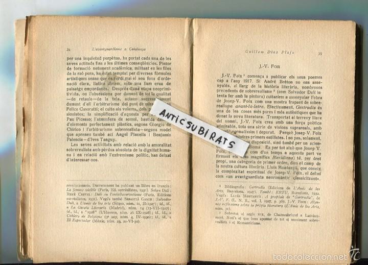 Libros antiguos: LLIBRE 1932 L AVANTGUARDISME A CATALUNYA GUILLEM DIAZ PLAJA SALVADOR DALI JUNOY SALVAT-PAPASSEIT - Foto 2 - 58501071