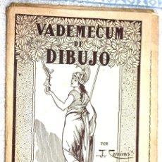 Libros antiguos: VADEMECUM DE DIBUJO. POR J. CAMINS. EDITORIAL SALVATELLA. BARCELONA. CARPETA CON 10 LÁMINAS ANIMALES. Lote 61586820