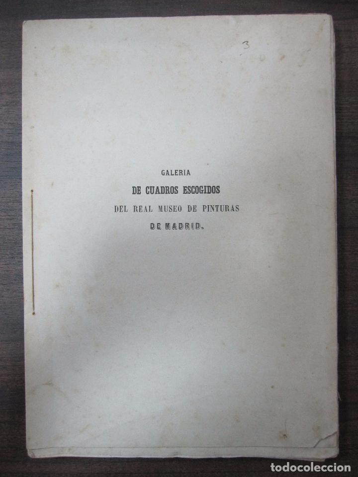 GALERIA DECUADROS ESCOGIDOS DEL REAL MUSEO DE PINTURAS DE MADRID. 1858. GRABADOS SOBRE ACERO. VER (Libros Antiguos, Raros y Curiosos - Bellas artes, ocio y coleccion - Pintura)