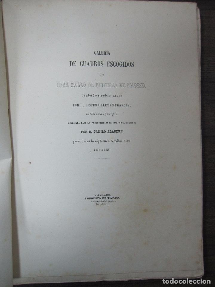 Libros antiguos: GALERIA DECUADROS ESCOGIDOS DEL REAL MUSEO DE PINTURAS DE MADRID. 1858. GRABADOS SOBRE ACERO. VER - Foto 2 - 62039572