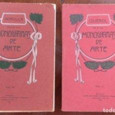Libros antiguos: SOROLLA- QUEROL. 2 LIBROS DE MONOGRAFIAS DE ARTE, 1913. Lote 64494251