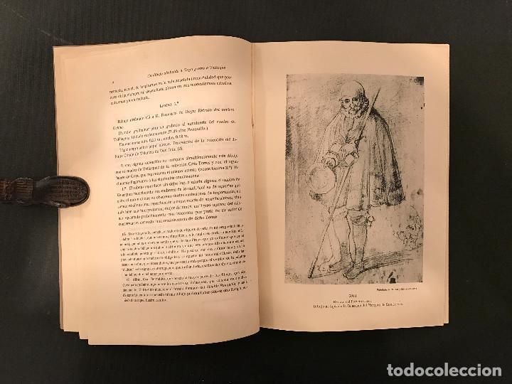 Libros antiguos: 1922 Un dibujo atribuido a Goya y otro a Velázquez de la colección del Marqués de Casa-Torres - Foto 3 - 72689307