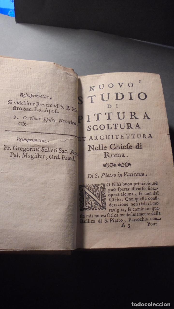 Libros antiguos: FILIPPO TITI - NUOVO STUDIO DI PINTURA , SCOLTURA , ED ARCHITETTURA NELLE CHIESE DI ROMA MDCCXXI - - Foto 3 - 83947064