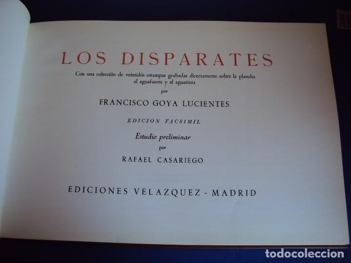 Libros antiguos: (LI-170428)LOS DISPARATES DE GOYA. RAFAEL CASARIEGO. EDICIONES VELAZQUEZ. MADRID. 1974 - Foto 2 - 85028960