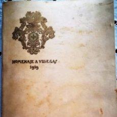 Libros antiguos: HOMENAJE A VILLEGAS 1919. ÁLBUM CRONOLÓGICO DE LAS PRINCIPALES OBRAS DE VILLEGAS. PINTURA SEVILLANA.. Lote 93022050