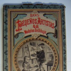 Libros antiguos: CARPETA LOS PEQUEÑOS ARTISTAS 48 MODELOS DE DIBUJO AÑOS 30 MUY RARA. Lote 95008471