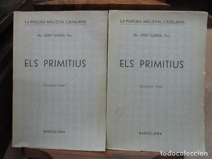 LA PINTURA MIG-EVAL CATALANA. ELS PRMITIUS. PRIMERA I SEGONA PART. MN. JOSEP GUDIOL. 1927. (Libros Antiguos, Raros y Curiosos - Bellas artes, ocio y coleccion - Pintura)