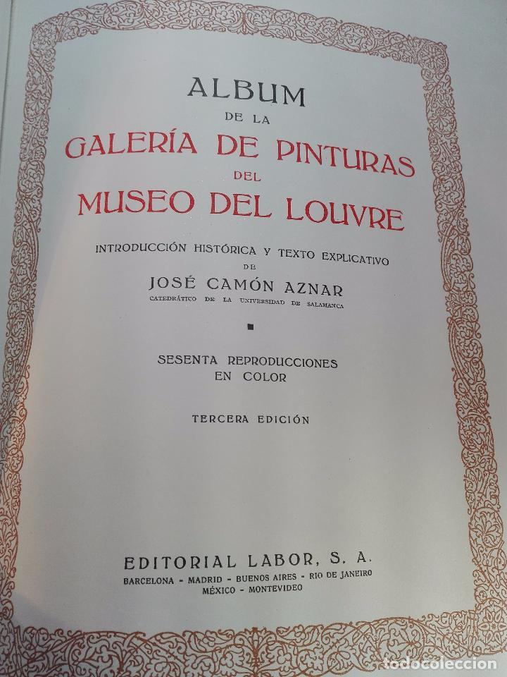 Libros antiguos: ALBUM DE LA GALERÍA DE PINTURAS DEL MUSEO DEL LOUVRE - JOSÉ CAMÓN AZNAR - EDIT. LABOR - 1935 - - Foto 2 - 100247247