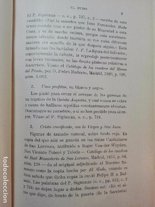 Libros antiguos: PINTORES ESPAÑOLES EN SAN LORENZO DEL ESCORIAL (1566-1613) - R. P. FR. JULIÁN ZARCO CUEVAS - 1931 - - Foto 3 - 100736359
