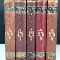 Libros antiguos: GALERÍAS DE EUROPA. 5 TOMOS. VARIOS AUTORES. EDITORIAL LABOR. S. XX.. Lote 101286291
