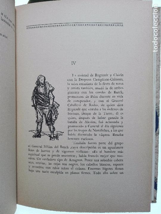 Libros antiguos: VIAJE A ESPAÑA DEL PINTOR HENRI REGNAULT ( 1868 - 1870 ) - MARIA BREY MARIÑO - VALENCIA - 1949 - - Foto 6 - 101671511