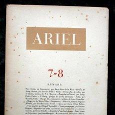 Libros antiguos: ARIEL REVISTA DE LES ARTS 7-8- ANY I NUM VII - VIII - 1946 - IL.LUSTRACIONS DE PICASSO Y CLAVÉ. Lote 102226791