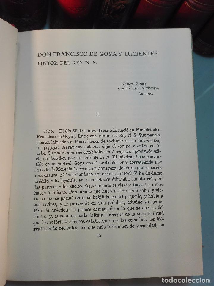 Libros antiguos: GOYA EN ZIG ZAG - BOSQUEJO DE INTERPRETACIÓN BIOGRÁFICA POR JUAN DE LA ENCINA - ESPASA-CALPE - - Foto 3 - 103142755