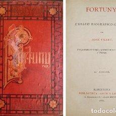 Libros antiguos: YXART Y DE MORAGAS, JOSÉ. FORTUNY. NOTICIA BIOGRÁFICA CRÍTICA. 1882.. Lote 104684523