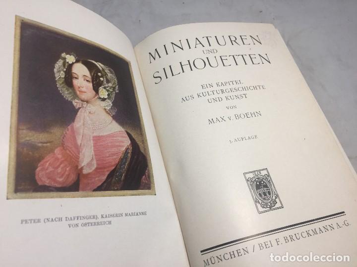 MINIATUREN UND SILHOUETTEN MAX BOEHN MUNCHEN 1919 ESTUDIO MINIATURA Y SILUETAS ESTUDIO ILUSTRADO (Libros Antiguos, Raros y Curiosos - Bellas artes, ocio y coleccion - Pintura)