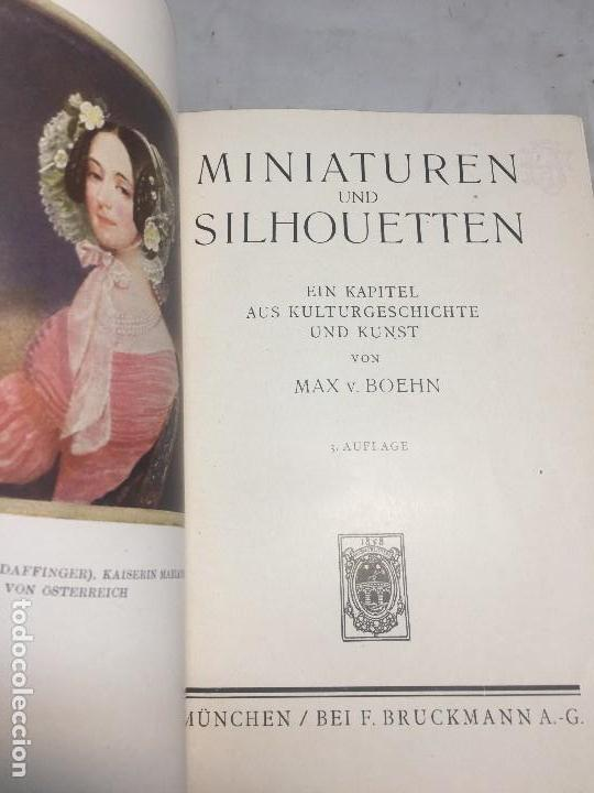Libros antiguos: Miniaturen und Silhouetten Max Boehn Munchen 1919 Estudio miniatura y siluetas estudio ilustrado - Foto 2 - 106600575