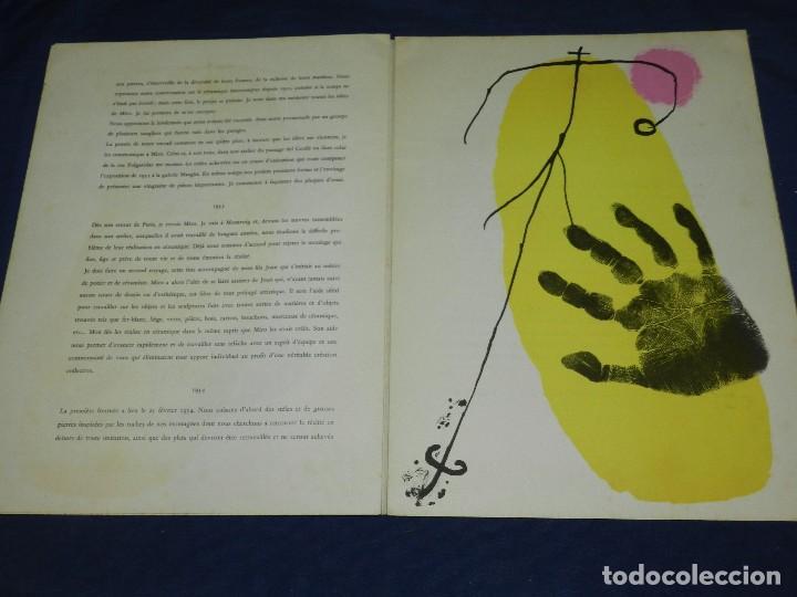 Libros antiguos: (M) JOAN MIRO - ARTIGAS - DERRIERE LE MIROIR , JACQUES PREVERT , NUM 87-88-89 1956 - Foto 6 - 107023767
