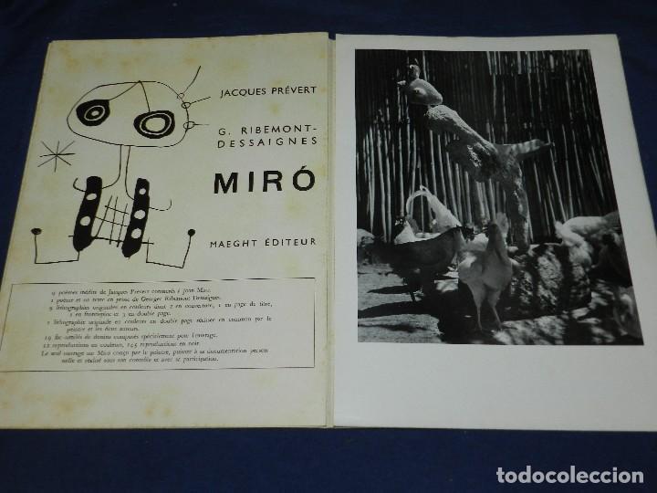 Libros antiguos: (M) JOAN MIRO - ARTIGAS - DERRIERE LE MIROIR , JACQUES PREVERT , NUM 87-88-89 1956 - Foto 8 - 107023767