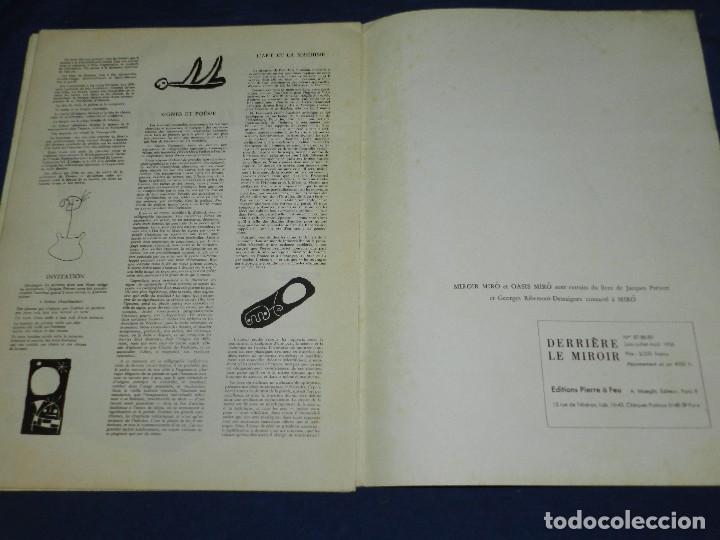 Libros antiguos: (M) JOAN MIRO - ARTIGAS - DERRIERE LE MIROIR , JACQUES PREVERT , NUM 87-88-89 1956 - Foto 9 - 107023767