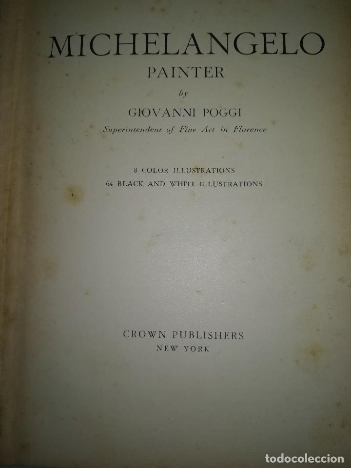 Libros antiguos: Michelangelo, pequeño libro muy ilustrado - Foto 2 - 107940719