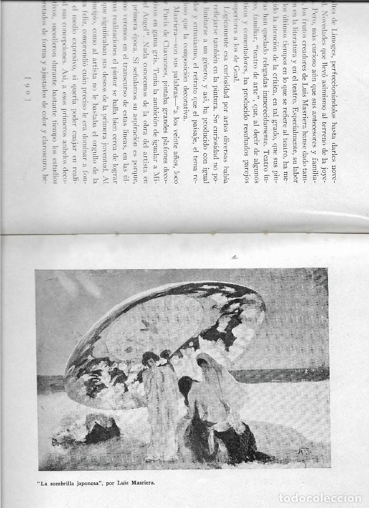 Libros antiguos: ARTISTAS CATALANES - MADRID 1929 - BIBLIOTECA ASCASIBAR - POR PEDRO G. CAMIO - VER FOTOS - Foto 7 - 109302123