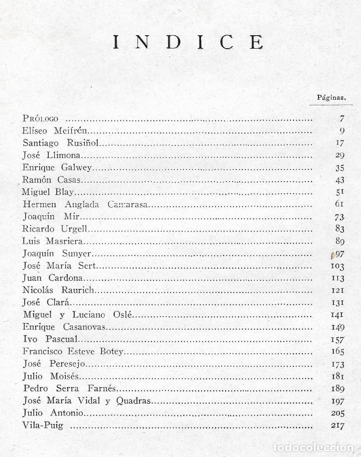 Libros antiguos: ARTISTAS CATALANES - MADRID 1929 - BIBLIOTECA ASCASIBAR - POR PEDRO G. CAMIO - VER FOTOS - Foto 8 - 109302123