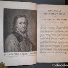 Libros antiguos: OBRAS DE D. ANTONIO RAFAEL MENGS, PRIMER PINTOR DE CÁMARA DEL REY. ED. JOSEPH NICOLÁS DE AZARA 1780. Lote 111132819