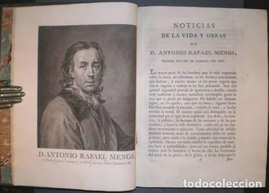 OBRAS DE D. ANTONIO RAFAEL MENGS, PRIMER PINTOR DE CÁMARA DEL REY. ED. JOSEPH NICOLÁS DE AZARA 1797 (Libros Antiguos, Raros y Curiosos - Bellas artes, ocio y coleccion - Pintura)