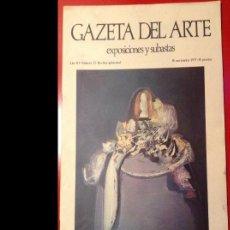 Libros antiguos: GAZETA DEL ARTE NÚM. 52, NOVIEMBRE 1.975. PERFECTO ESTADO.. Lote 112929299