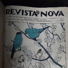 Libros antiguos: REVISTA NOVA DEL Nº 1 AL 27 AÑO 1914. Lote 113063175