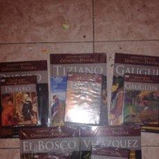 Libros antiguos: LOTE DE 5 GRANDES ARTISTAS GENIOS DE LA PINTURA.NUEVOS SIN ESTRENAR.. Lote 113969663