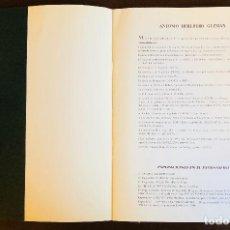 Libros antiguos: ANTONIO HEREDERO(30€). Lote 115940043