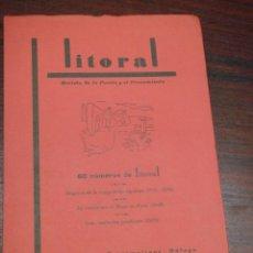 Libros antiguos: LITORAL. REVISTA DE LA POESIA Y EL PENSAMIENTO.Nº 49 -50.ORIGENES DE VANGUARDIA ESPAÑOLA (1926-1936). Lote 117105375