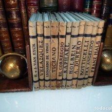 Libros antiguos: COLECCIÓN DE 11 LIBROS LOS GRANDES PINTORES - Nº 1,2,3,4,7,8,11,12,14,20 Y 24 - PARIS - CIRCA 1920 -. Lote 117412607