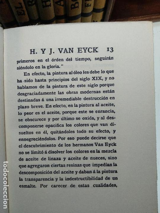 Libros antiguos: COLECCIÓN DE 11 LIBROS LOS GRANDES PINTORES - Nº 1,2,3,4,7,8,11,12,14,20 Y 24 - PARIS - CIRCA 1920 - - Foto 11 - 117412607