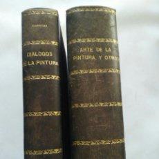 Libros antiguos: FRANCISCO PACHECO Y VICENTE CARDUCHO, TRATADOS DE ARTE. Lote 119534003