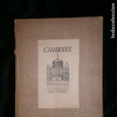 Libros antiguos: F1 CAMBRIDGE A SKECCH - BOOK BY WALTER M.KEESEY ADAM CHARLES BLACK LONDON 1913. Lote 121328379