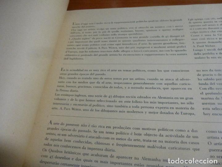Libros antiguos: paul weber, inglaterra el enterrador de las pequeñas naciones, cuadros ingleses, con 11 laminas - Foto 3 - 122150119