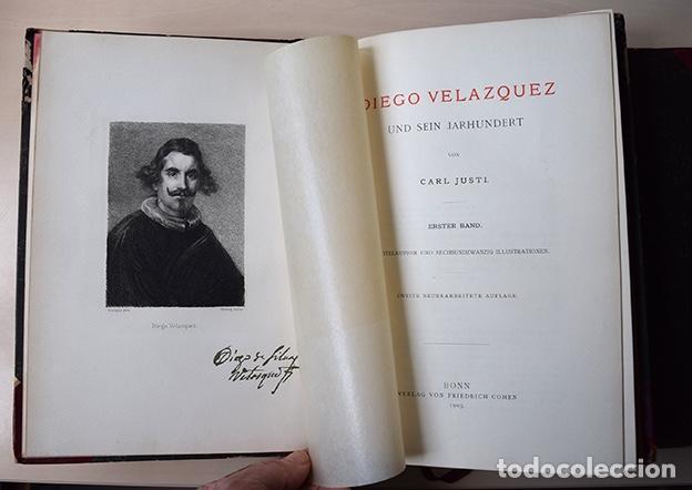 DIEGO VELAZQUEZ UND SEIN JAHRHUNDERT (VELÁZQUEZ Y SU SIGLO) - CARL JUSTI - BONN, COHEN, 1903 (Libros Antiguos, Raros y Curiosos - Bellas artes, ocio y coleccion - Pintura)