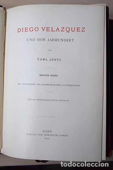 Libros antiguos: Diego Velazquez und sein Jahrhundert (Velázquez y su siglo) - Carl Justi - Bonn, Cohen, 1903 - Foto 5 - 126309267