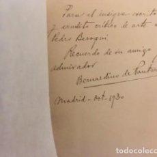 Libros antiguos: PANTORBA : JIMÉNEZ ARANDA (ENSAYO BIOGRÁFICO Y CRÍTICO). 1930 AUTÓGRAFO . Lote 128680111