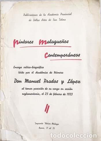 Libros antiguos: Prados : Pintores malagueños contemporáneos (Málaga, 1933) Bernardo Ferrándiz; Emilio Ocón; J. Denis - Foto 5 - 131617626