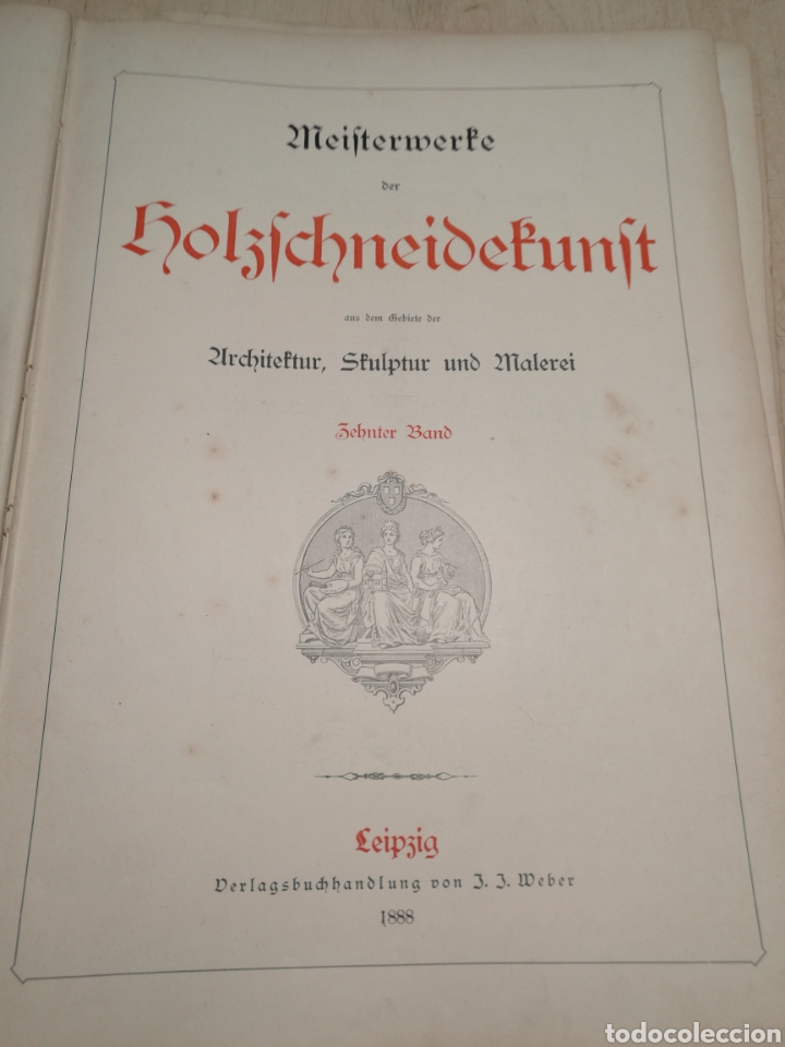 Libros antiguos: Rebajado!. Libro en aleman con numerosas litografias, 1888. - Foto 2 - 132644578