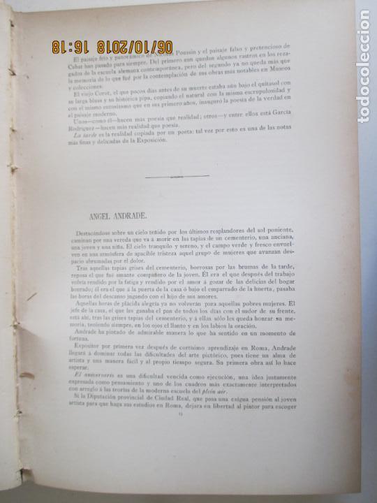 Libros antiguos: LA EXPOSICIÓN NACIONAL DE BELLAS ARTES DE MADRID 1890. TEXTO POR AUGUSTO COMAS Y BLANCO. - Foto 5 - 135520522