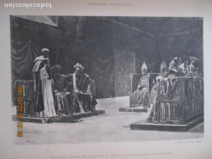 Libros antiguos: LA EXPOSICIÓN NACIONAL DE BELLAS ARTES DE MADRID 1890. TEXTO POR AUGUSTO COMAS Y BLANCO. - Foto 8 - 135520522