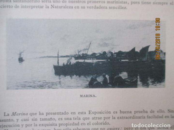 Libros antiguos: LA EXPOSICIÓN NACIONAL DE BELLAS ARTES DE MADRID 1890. TEXTO POR AUGUSTO COMAS Y BLANCO. - Foto 9 - 135520522
