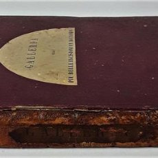 Libros antiguos: GALLERIA DELLE PIU BELLE INCISIONI IN ACCIAIO. TOMO I. EDIT. PAOLO FUMAGALLI. 1840.. Lote 138118862