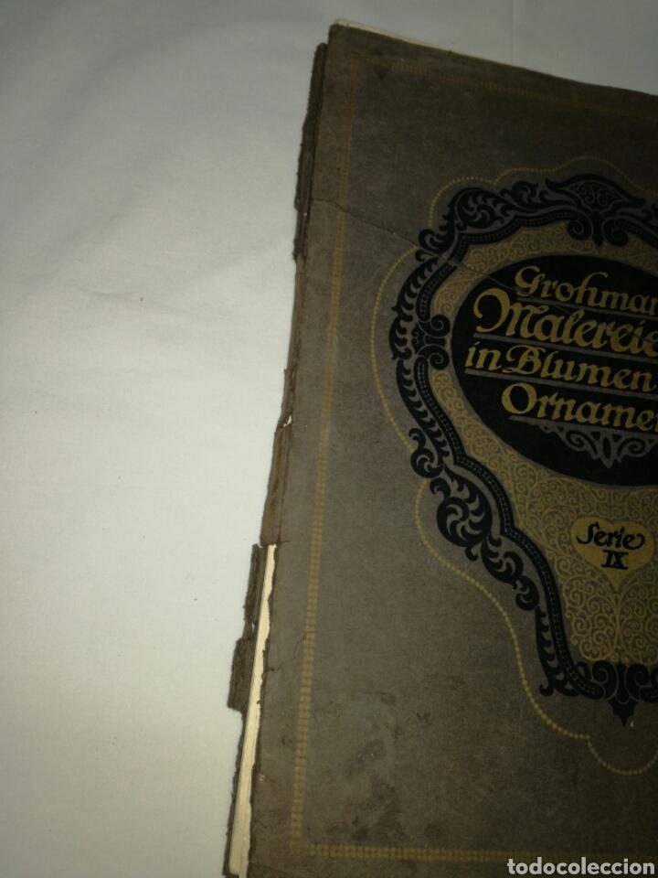 Libros antiguos: Manual de decoración Grohmann Malercien in Blumen und Ornament Serie IX - Foto 2 - 139576261