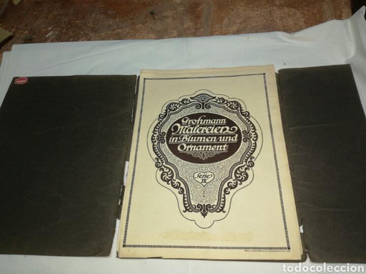 Libros antiguos: Manual de decoración Grohmann Malercien in Blumen und Ornament Serie IX - Foto 3 - 139576261
